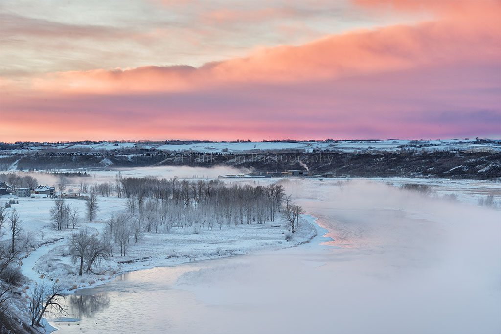 Sunrise Over Bow River Mist - Clagary 02