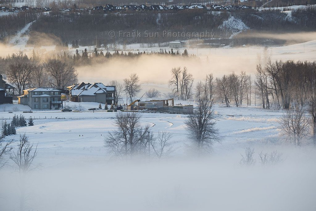 Sunrise Over Bow River Mist - Clagary 01