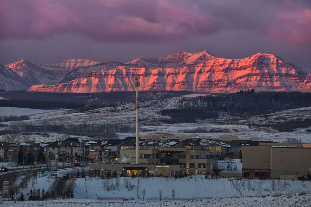Sunrise at Rocky Mountains - Calgary 01